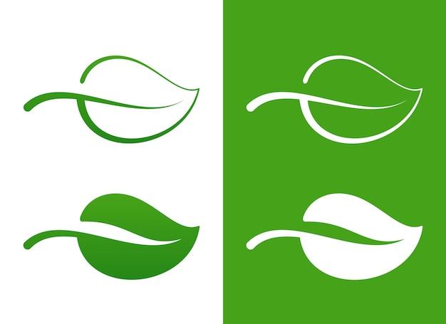 Icônes De Feuille Verte De Vecteur Sur Concept écologique Blanc Vecteur gratuit