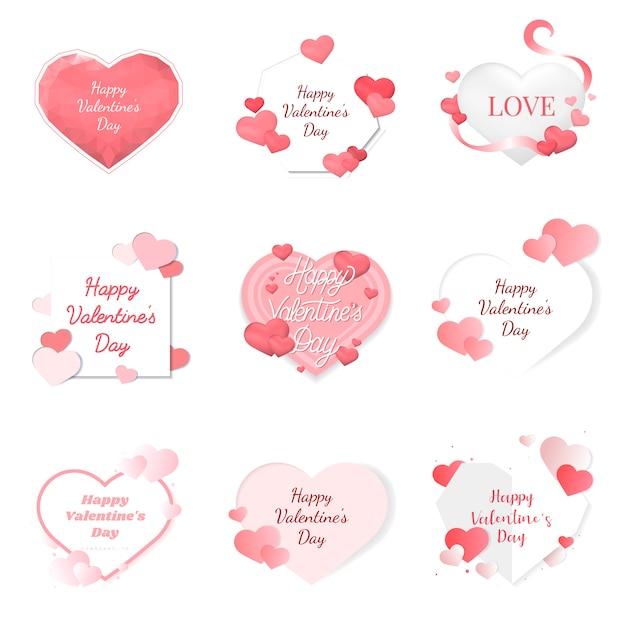 Icônes d'illustration de saint valentin Vecteur gratuit