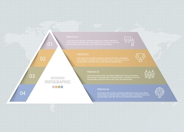Icônes D'infographie Et D'ouvrier Triangle. Vecteur Premium