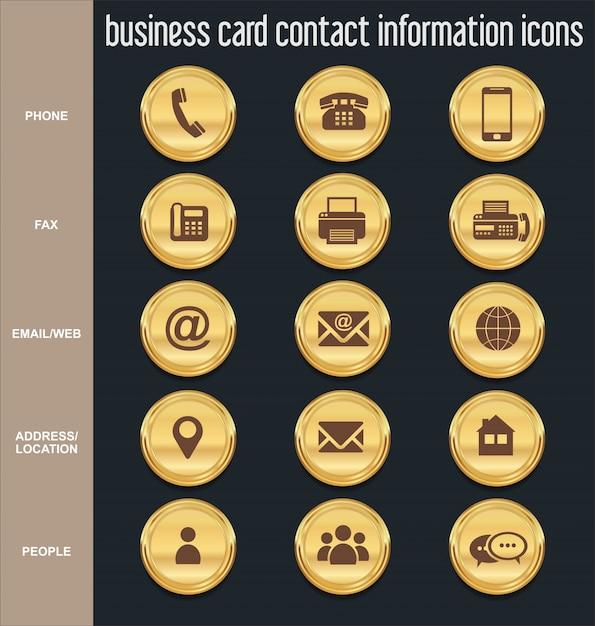 Icnes Dinformations De Contact Carte Visite