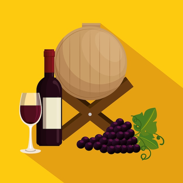 Icônes de jeu de vin rouge Vecteur Premium