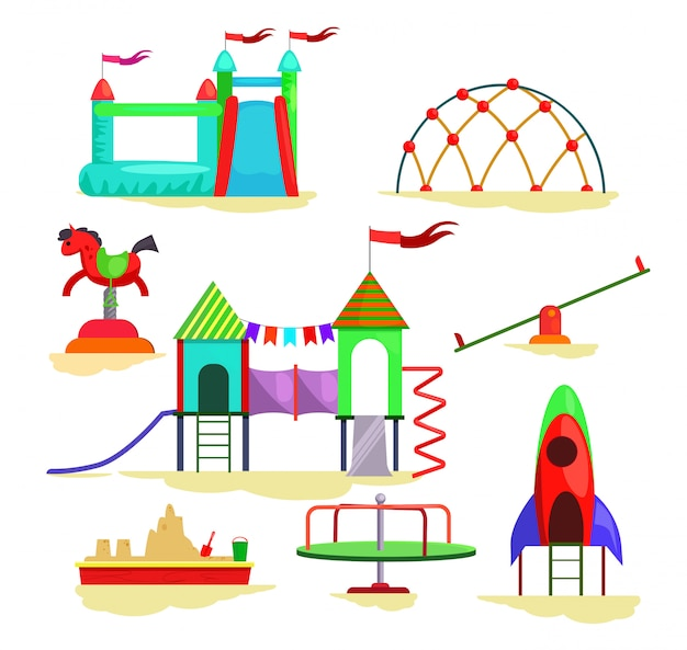 Icônes De Jeux Pour Enfants Vecteur gratuit
