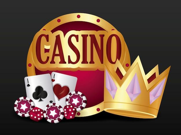 Icônes liées au casino Vecteur gratuit