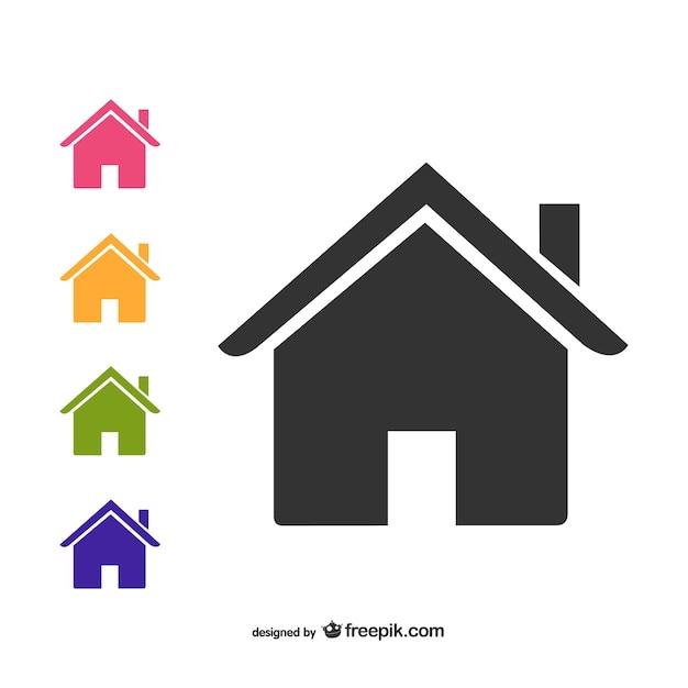 Icônes maison emballent Vecteur gratuit