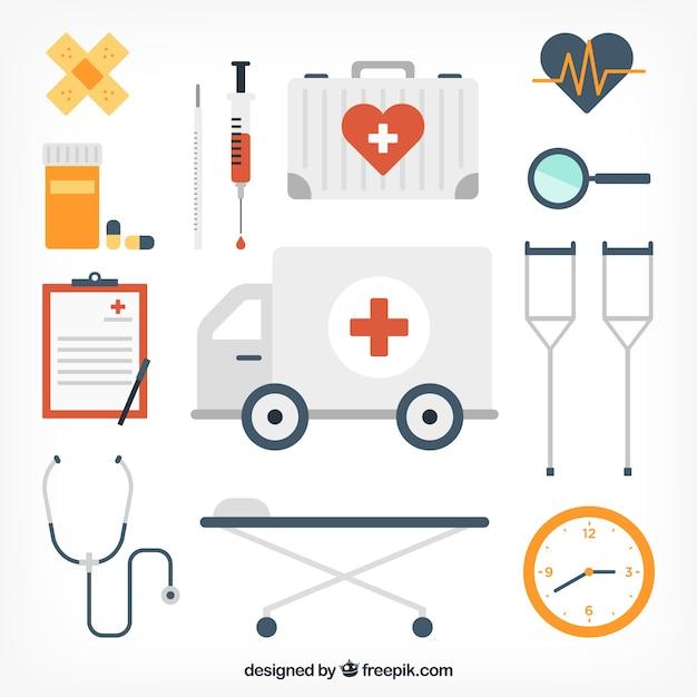 Icônes de matériel médical Vecteur gratuit