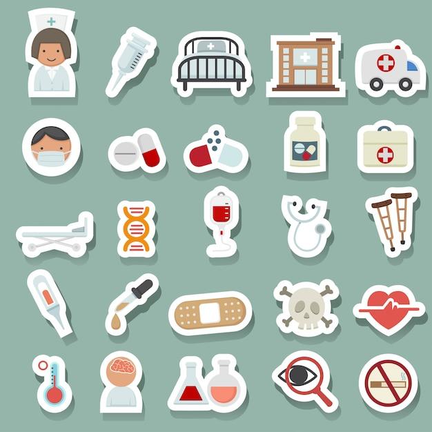 Icônes médicales Vecteur Premium