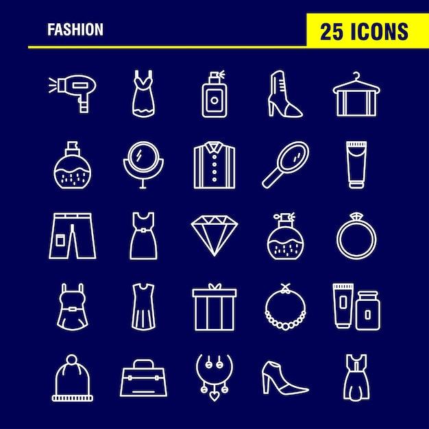 Icônes de mode Vecteur gratuit