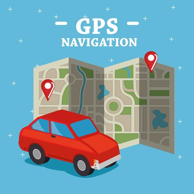 Icônes de navigation gps Vecteur gratuit