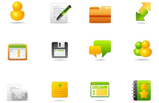 Icônes De Philos - Set 5 | Internet Et Blogging Vecteur Premium