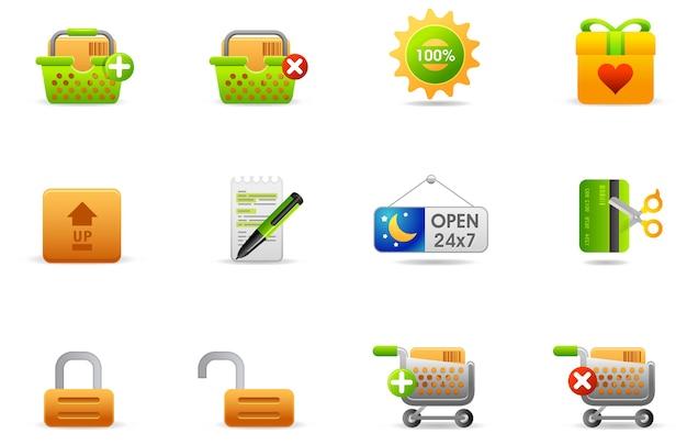 Icônes De Philos - Set 6 | Magasin Et Commerce électronique Vecteur Premium