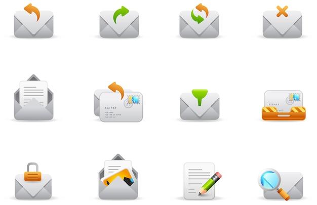 Icônes De Philos - Set 7 | Emails Vecteur Premium
