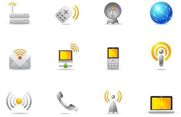 Icônes De Philos - Set 8 | Communication Sans Fil Vecteur Premium