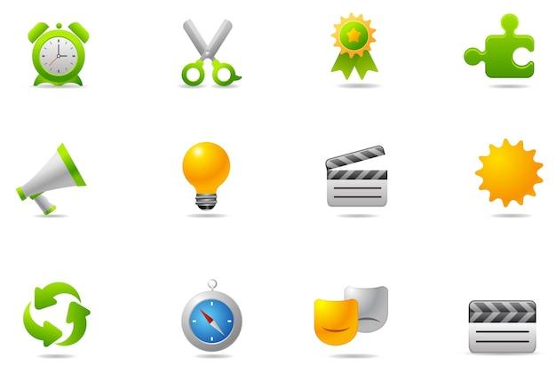 Icônes De Philos - Set 9 | Icône Internet Vecteur Premium