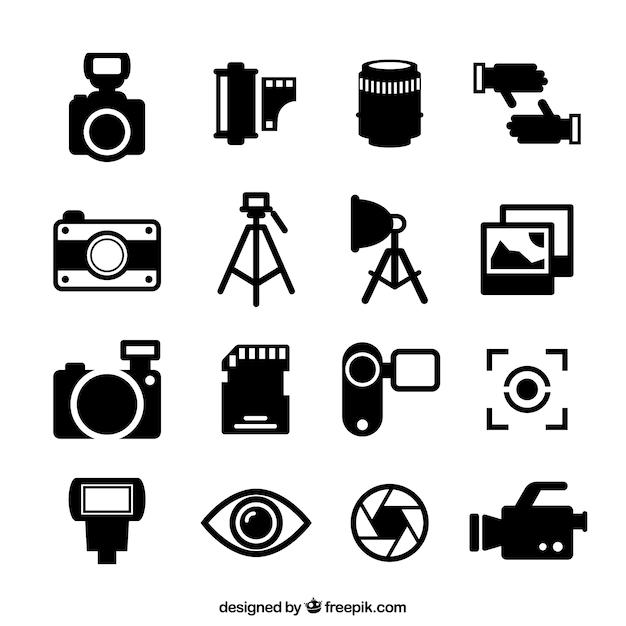 Icônes De La Photographie Vecteur gratuit