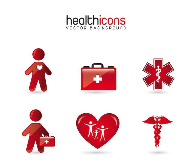 Icônes de santé Vecteur Premium