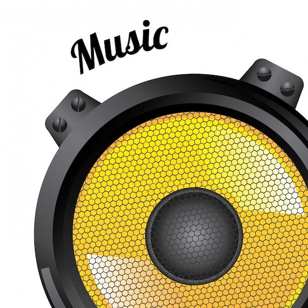 Icônes sonores sur blanc Vecteur gratuit