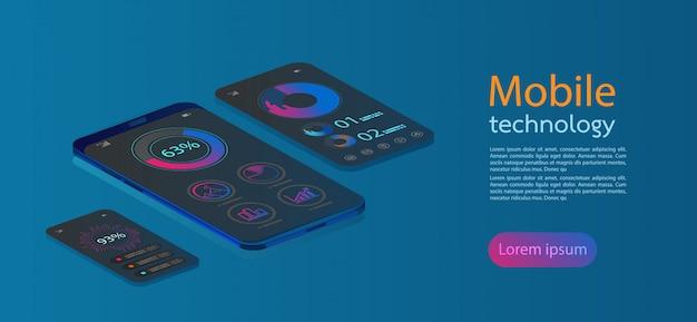 Icônes web plat pour applications mobiles, design plat isométrique 3d. Vecteur Premium