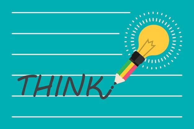 Idée et concept d'ampoule créatif. Vecteur Premium