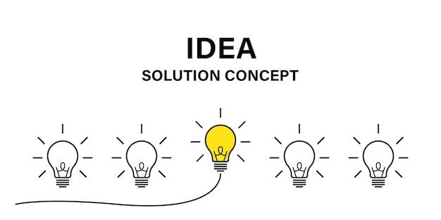 Idée De Concept Créatif. Concept D'entreprise Idée Lampe. énergie électrique. Vecteur D'icône Ampoule Cerveau. Vecteur Premium