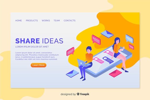 Idée landing page Vecteur gratuit