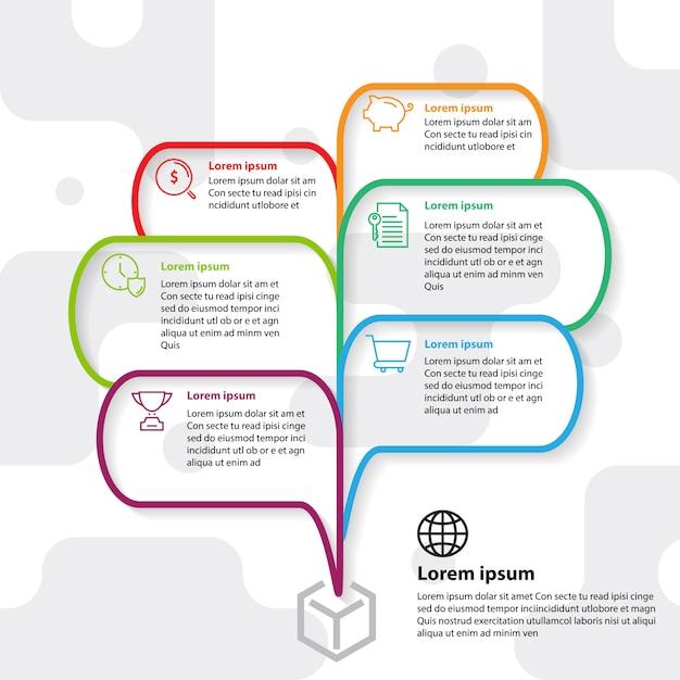 Idée de pensée modèle infographie exploser Vecteur Premium