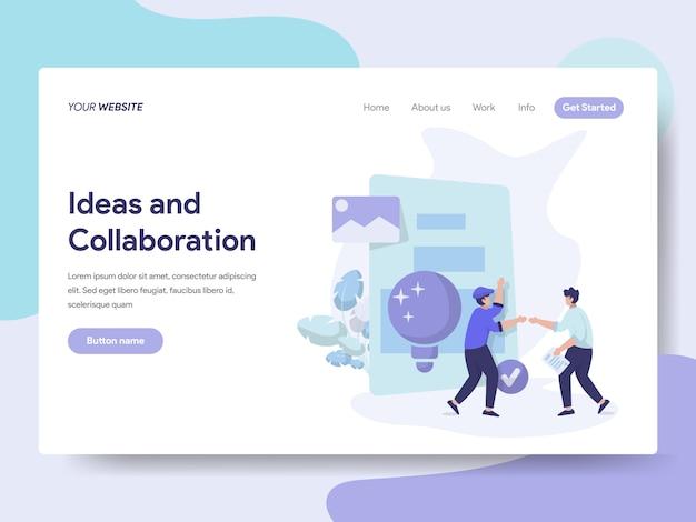Idées et collaboration illustration Vecteur Premium