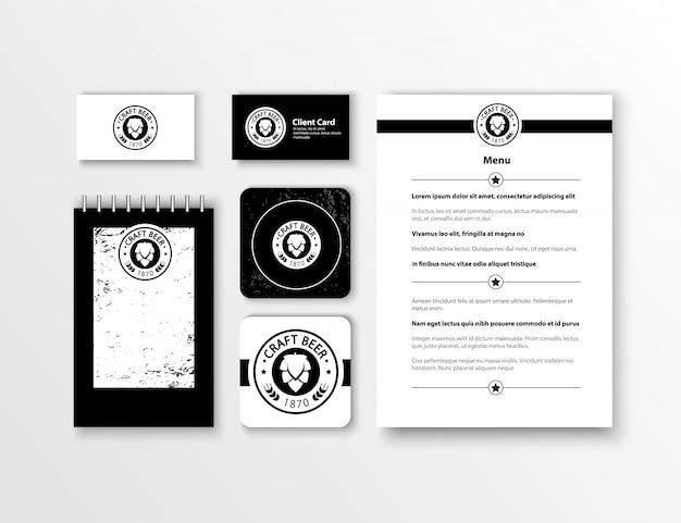 Identité d'entreprise. conception de modèle de papeterie classique. documentation pour les entreprises. Vecteur gratuit