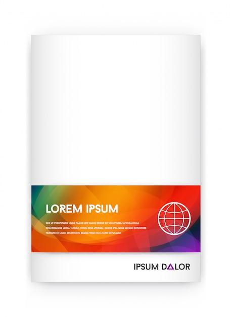 Identité Visuelle Avec Des éléments De Logo Lettre Dégradés Lumineux Mélangent Le Style. Modèle De Couverture De Brochure Vecteur Premium