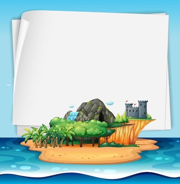Île et signe Vecteur gratuit