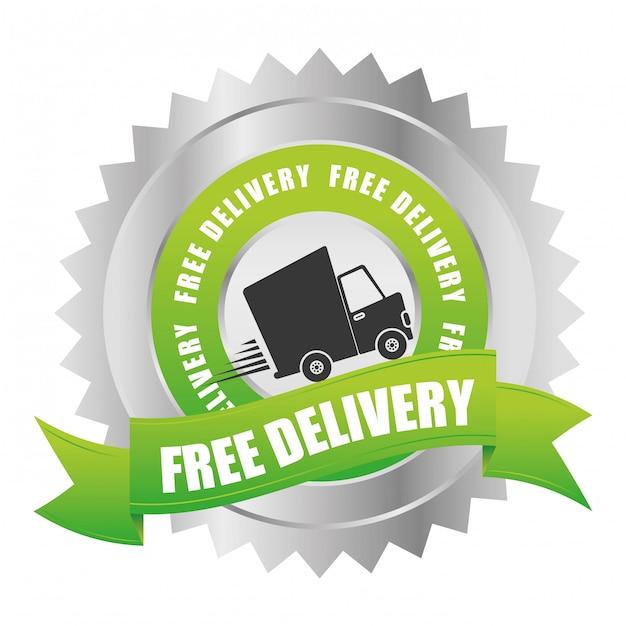 Illuistration livraison gratuite Vecteur Premium