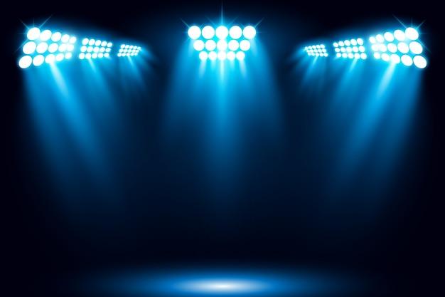Illuminated stage illustration de scène de projecteur de lumière Vecteur Premium