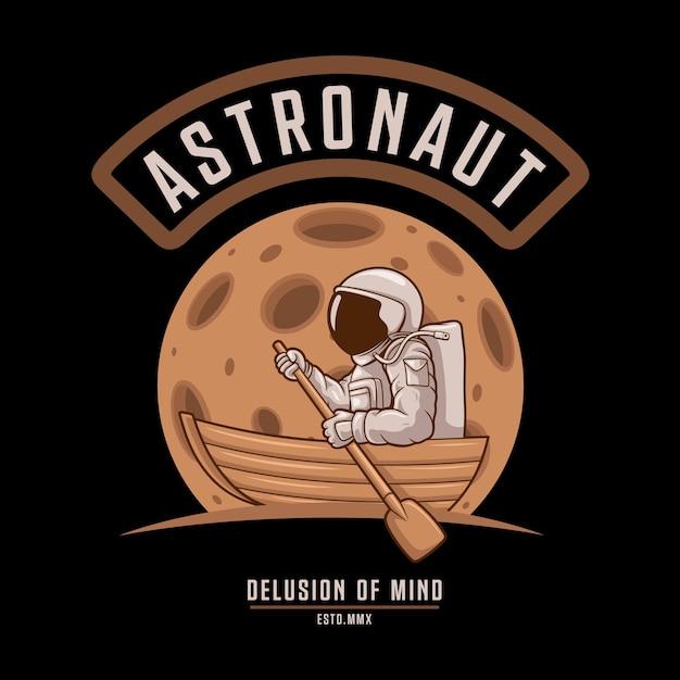 Illusion D'esprit D'astronaute Vecteur Premium
