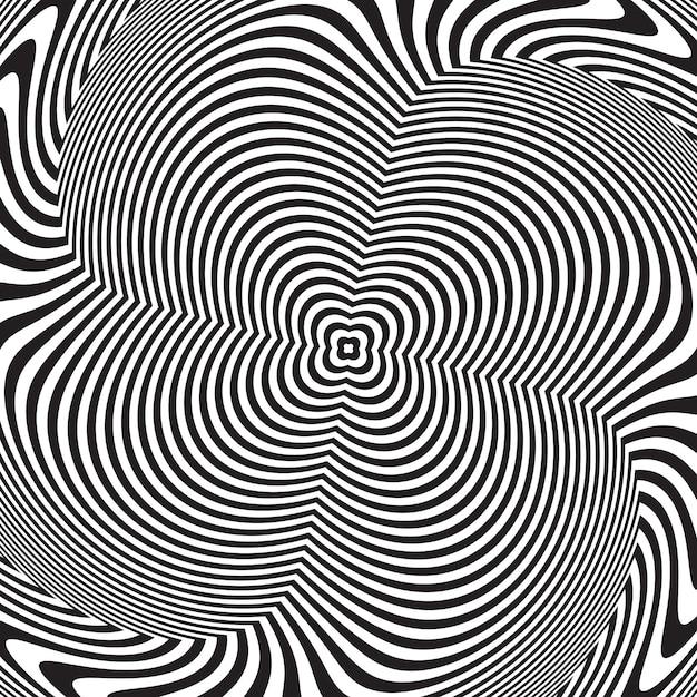 Illusion d'optique, abstrait fond tordu Vecteur Premium
