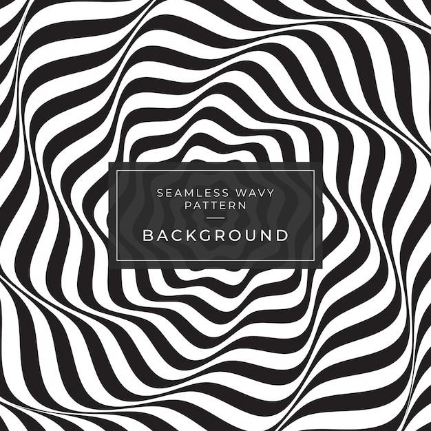 Illusion d'optique abstrait lignes fond d'écran instagram géométrique motif de lignes noir et blanc eps10 Vecteur Premium