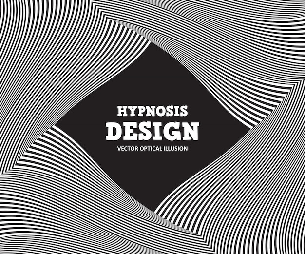 Illusion d'optique abstraite. fond noir et blanc de rayures ondulées Vecteur Premium