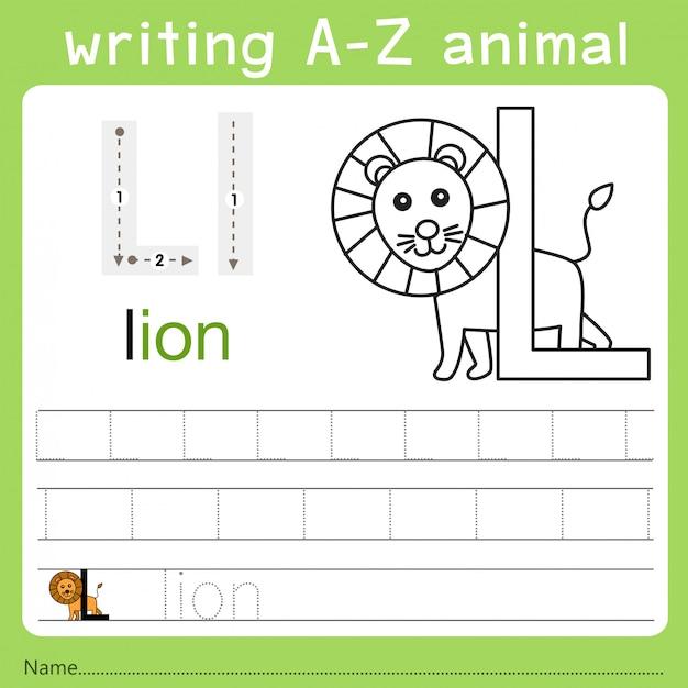 Illustrateur De L écriture D Un Animal Z Télécharger Des Vecteurs