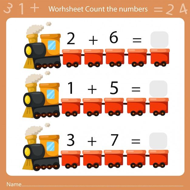 Illustrateur de feuille de calcul compte le nombre deux Vecteur Premium