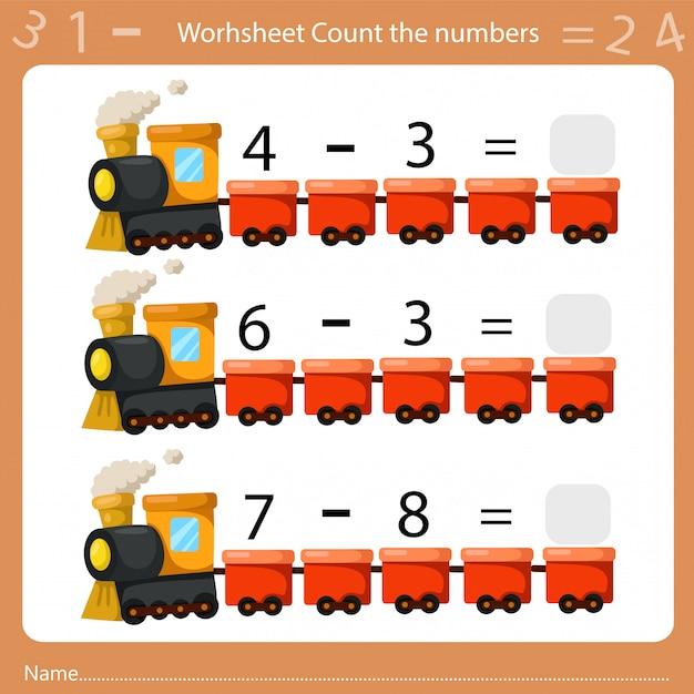 Illustrateur de feuille de calcul compte le nombre quatre Vecteur Premium