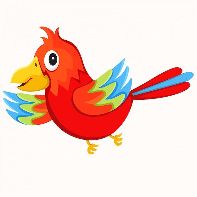 Illustrateur de perroquet isolé Vecteur Premium