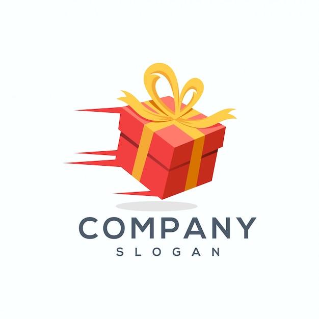 Illustrateur De Vecteur Cadeau Logo Design Vecteur Premium