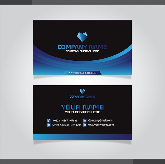 Illustration abstraite bannière template.vector Vecteur Premium