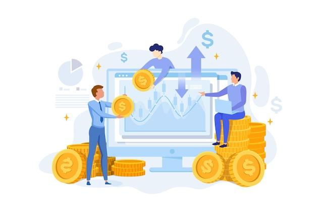 Illustration Abstraite Des Données Boursières Vecteur Premium