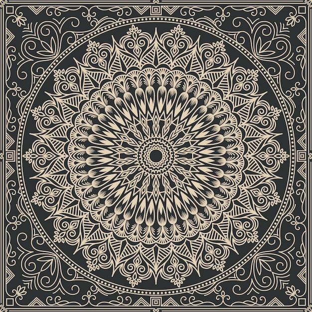 Illustration Abstraite De Mandala Vecteur gratuit
