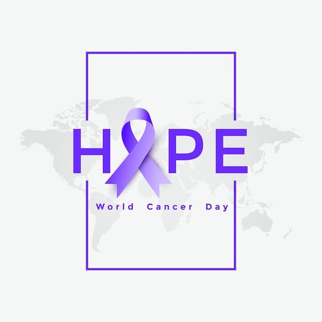 Illustration D'affiche De La Journée Mondiale Du Cancer Vecteur gratuit