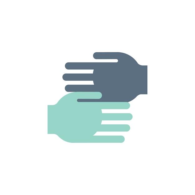 Illustration d'aider les mains à soutenir les icônes Vecteur gratuit