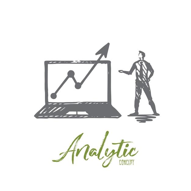 Illustration Analytique Dessinée à La Main Vecteur Premium