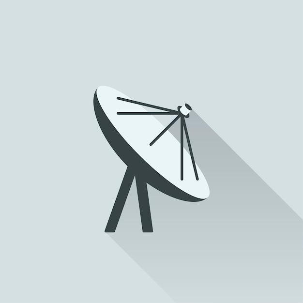 Illustration de l'antenne satellite Vecteur gratuit