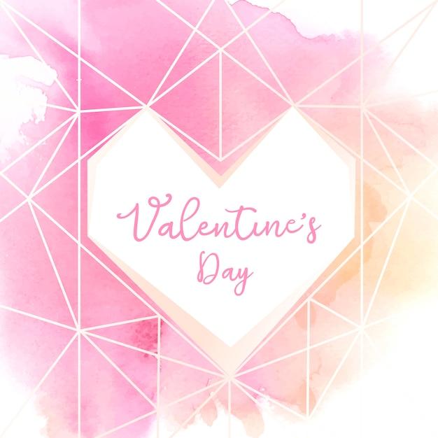 Illustration Aquarelle Icône Saint Valentin Vecteur gratuit