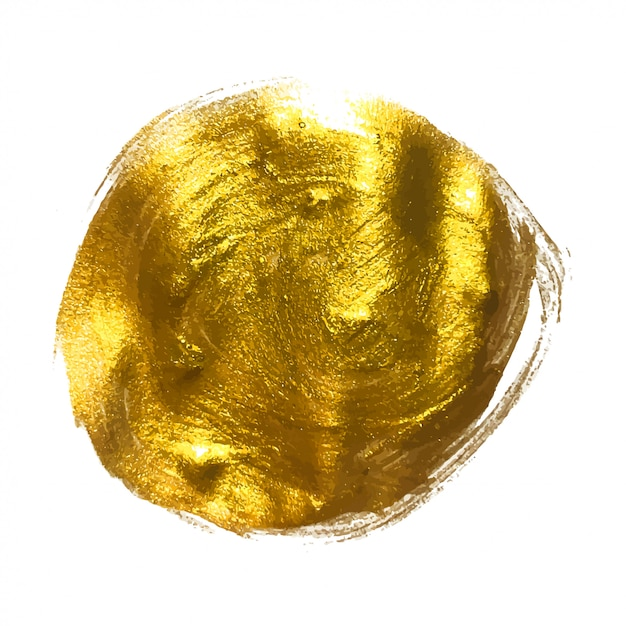 Illustration d'art texturé scintillant de peinture d'or Vecteur Premium