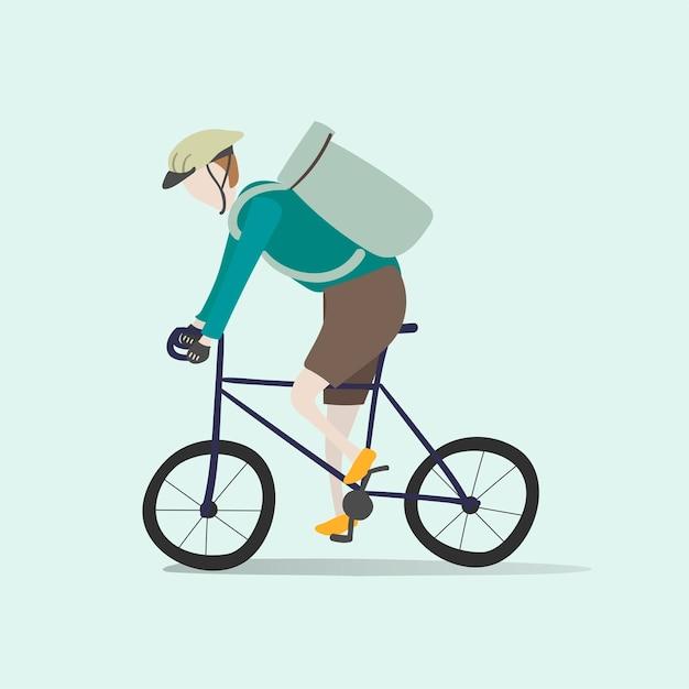 Illustration d'un avatar humain avec environnement Vecteur gratuit